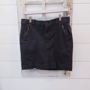 Dark gray denim short summer skirt sz 10
